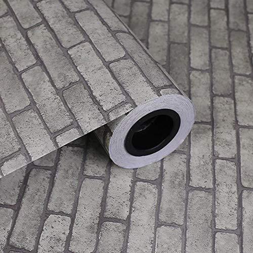 LKOIU zelfklevende zelfklevende baksteen patroon PVC decoratie behang Grijze baksteen
