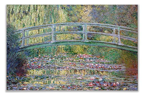 Monet Wall Art Collection Canvas Japanese Bridge (The Water-Lily Pond), 1899 07 Prints Wrapped