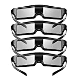 Best 3d Projectors - 3D Glasses 4 Pack, KX-60 Rechargeable 3D Active Review