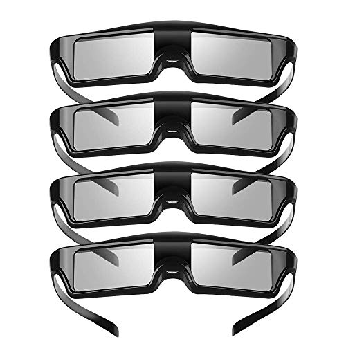 Gafas 3D KX-60 recargables 3D gafas de obturación activas compatibles con proyector Epson, Sony Panasonic Samsung 3D TV, PowerLite Home Pro Cinema