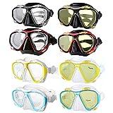 MELARIO Taucherbrille Für Die Kurzsichtigkeit Altersichtigkeit (Rot, Altersichtigkeit +2.5)