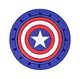 Plasticolor 000653R01 Marvel Captain America Auto Car Truck SUV Cup Holder Coaster 2-Pack