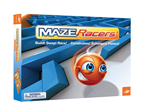 Foxmind, Maze Racers, Exciting Building and Racing Board Game - 2 or 4 Players, for Kids Ages 8+