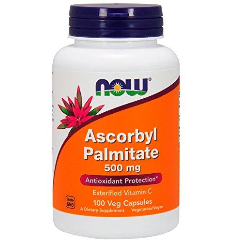 Now Foods | Ascorbyl Palmitate | 500 mg | 100 vegane Kapseln | glutenfrei