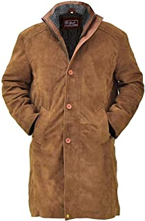Hikes Men`s Robertt Sheriff Longmire Waltt Mysteriess Suede Leather Jacket : Special Offer