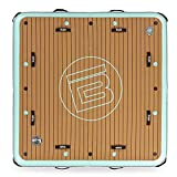 BOTE Inflatable Pool Float for Adults | Floating Exercise Mat - Island - Dock - Raft for Lakes & Beach, Sturdy & Stable, 7'x7'
