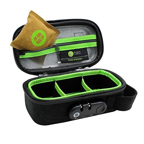STASHLOGIX Silverton - Odor Proof & Locking Bag (Black, Small)…