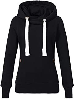 9f57184069a BOLUOYI Women Plus Size Long Sleeve Solid Sweatshirt Hooded Pullover Tops  Shirt