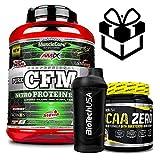 AMIX MuscleCore CFM Nitro Protein Isolate - 2 kg milk Vanilla + Bcaa Zero + Mezclador