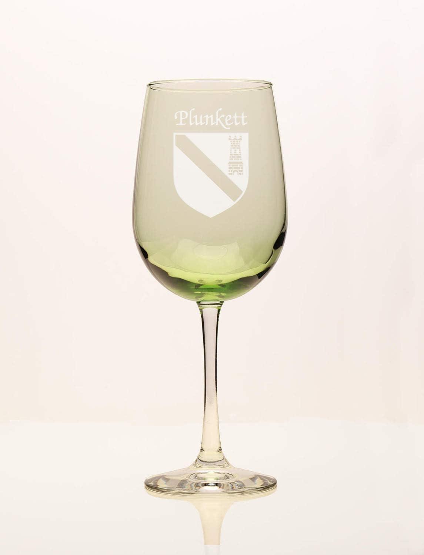 Plunkett Irish Coat of Arms Ranking TOP18 supreme Green Wine Glass