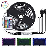 Sunnest Ruban LED 2M - [4 Pack*0.5m]LED Bande 60 LEDs 5050 RGB LED Light Strip Flexible Multicolore Décoration avec Télécommande+Câble USB