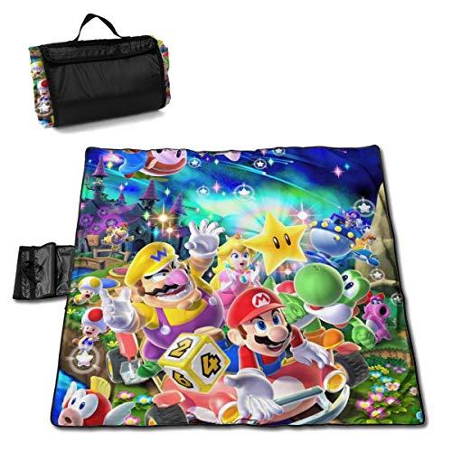 Fashion Game Super Mario - Alfombrilla antideslizante para el aire libre, senderismo, camping, excursiones, excursiones, excursiones, excursiones