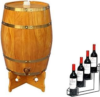yunyu Tonneau de vieillissement en chêne 1 Seau décoratif Vertical pour Whisky, vin, Agave, Miel, avec casier à vin Mini t...
