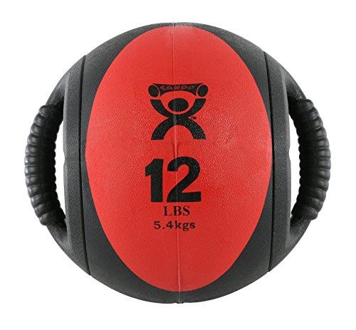 Cando W67562 Balón Medicinal Con Dos Asas, 5,5 kg, Rojo