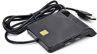 NEYOANN USB SIM Card Reader for Bank Card IC/ID CAC TF DNIE ATM Cards USB 2.0 Card Reader for Windows 7 8 10 Linux OS