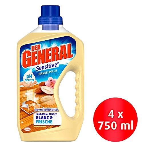 Der General Sensitive Mandelmilch, Allzweckreiniger, (4 x 750 ml)