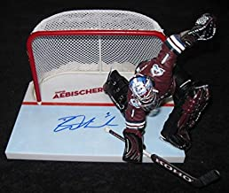 David Aebischer Autographed Signed Mcfarlane Figure Autographed Signed Colorado Avalanche JSA COA