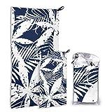 JOCHUAN Marihuana Leaf of Cannabis 2 Pack Microfiber Beach Towel Toallas de baño para bebés Set de Secado rápido Lo Mejor para el Gimnasio Viajes Mochileros Yoga Fitnes