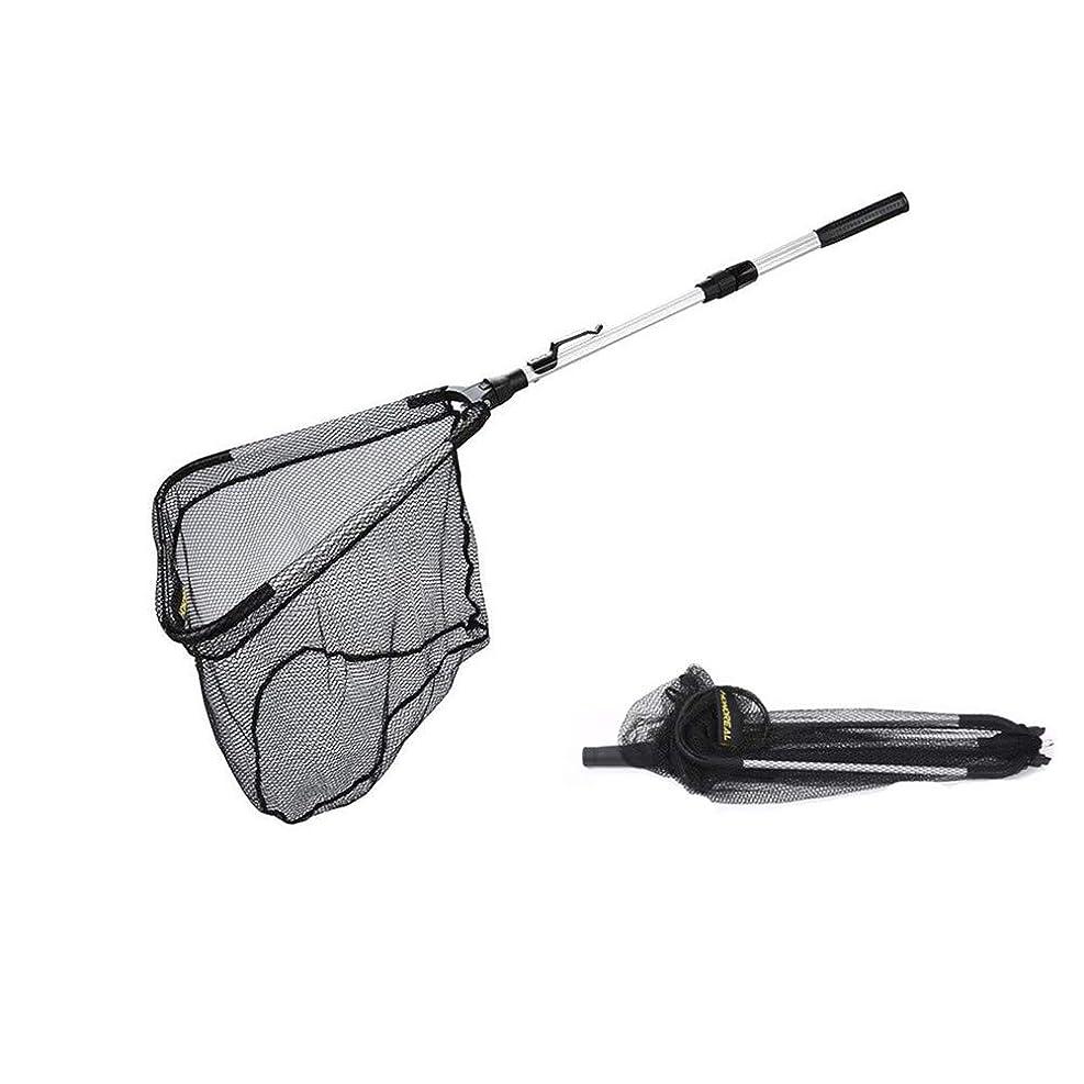 から想定する故障釣り網,ランディングネットタモ網たも網玉網伸縮コンパクト軽量アルミ柄ナイロン網3サイズ 95cm 160cm 210cm
