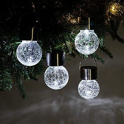 crackle glass solar hanging lights