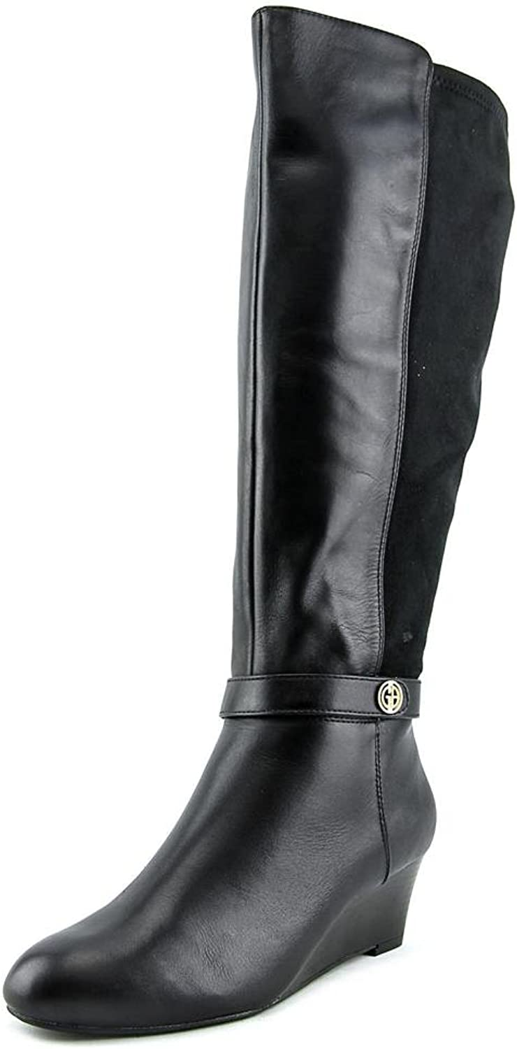 Giani Bernini Womens Dafnee Leather Round Toe Knee High Fashion Boots