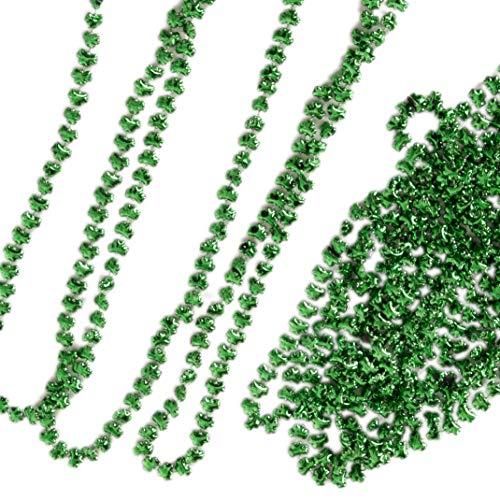 Narwhal Novelties St Patrick's Day Shamrock Green Necklace Assortment (12-Pack)