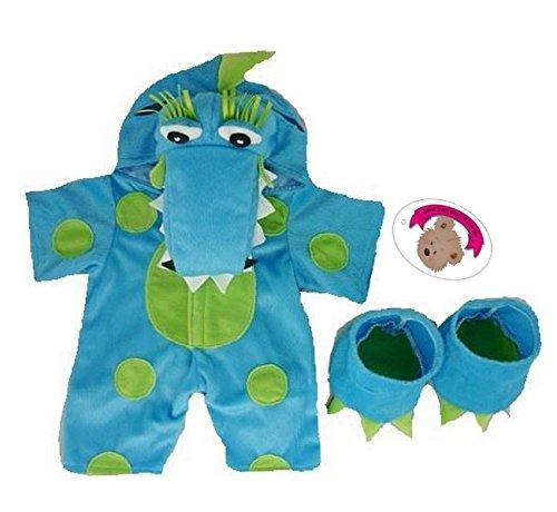 Build your Bears Wardrobe Teddy Bear Clothes Fits Build a Bear Teddies Blue Dragon Outfit