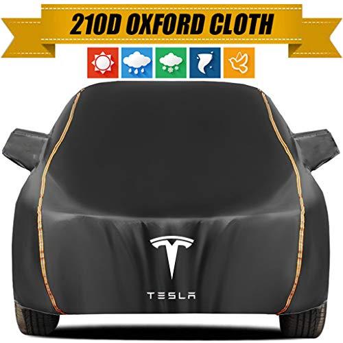 ZMQWE Telo Copriauto Compatibile con Tesla Model S Model 3 Telo Copriauto Antigrandine Telo Impermeabile Telo Auto Esterno Impermeabile E Traspirante,Model 3