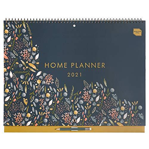 Boxclever Press Home Planner calendario pared (en inglés). Calendario 2021 pared con mucho espacio. Planificador mensual con 16 meses comienza ahora y se extiende hasta diciembre'21.