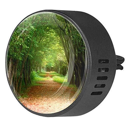 Josid 2 unids otoño verde camino coche accesorios ambientador aromaterapia difusor coche ventilación clip regalo decoraciones 40mm