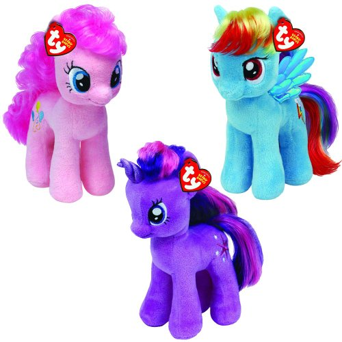 TY Beanie Baby My Little Pony - Set von 3 (Rainbow Dash, Pinkie Pie & Twilight Sparkle) - Set of 3 (Rainbow Dash, Pinkie Pie & Twilight Sparkle)