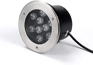 DLGGO LED de acero inoxidable Piscina Luz empotrada bajo el agua sumergible IP68 SPA Noche luz del acero inoxidable Luz paisaje 12V AC Downlight for la decoración de rocalla, fuente, charca
