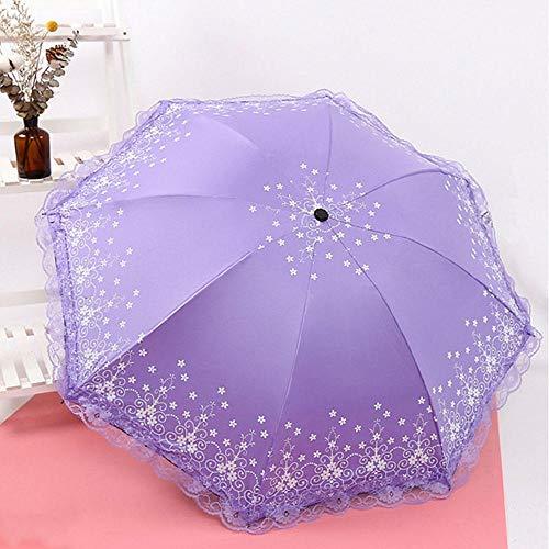 Golf Paraplu's Paraplu Stick Paraplu's Anti-UV Paraplu Zonnescherm Paraplu Paraplu Stofdichte Draagbare Kant Zwart Lijm Doek 8 Botten Gift