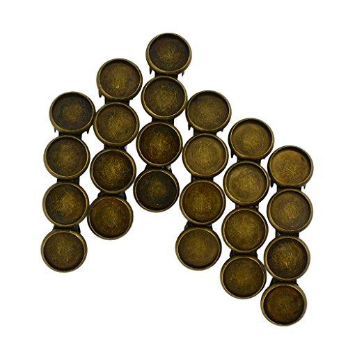 Generic 6pcs Broches Antique Bronze Barrette Français Cabochon Pince à Cheveux Bijoux Femmes