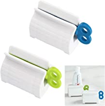IronBuddy 2 Pack Rolling Tube Toothpaste Squeezer Toothpaste Seat Holder Stand Toothpaste Squeezer Dispenser Manual Squeezer for Cream Toothpaste