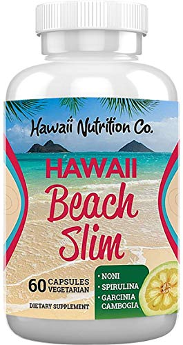 Hawaii Nutrition Company Beach Slim - Green Tea & Garcinia Cambogia Extracts for Weight Management, Natural Energy Supplement & Metabolism Support, 60 Capsules