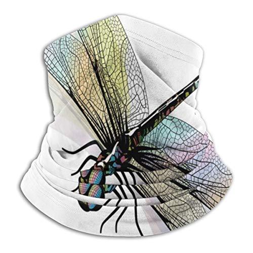 Shady Dragonfly patroon met ornate lace-stijl antiek beauty wings design microvezel nek warmer vizier ski beschermende nek schaar