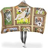 yjduop Beagle Soft Colorful Hooded Blanket 3D Printed for Couch Sofa Bed in Cold Environment Sunshine Style White 60x80 inch