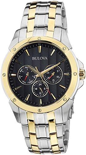 Bulova Men's 98C120 Sport Analog Display Japanese Quartz Two Tone Watch