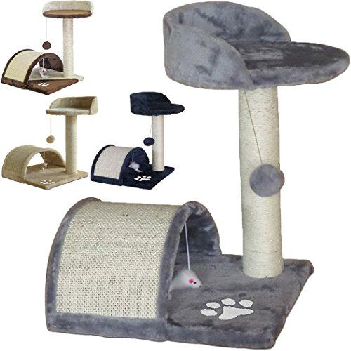 TIRAGRAFFI per Gatti Alto 52 CM. Base 40 X 40 CM (Il Piu' Grande Online) GRAFFIATOIO Parco Giochi Gioco Gatto SISAL Cuccia Albero Tira GRAFFIO Palestra - Grigio