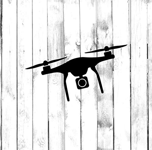 Yilooom Drone met Camera - Quad Drone Decal - Sterf Decal - Auto Sticker Bumper Sticker Window Stickers Laptop Sticker - 4 Inches - 2 Packs 8 inches Meerkleurig