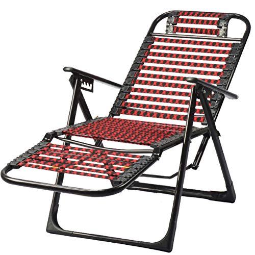 Gettop Hogar Siesta Silla Salón Plegable, Silla Playa Portátil Multifuncional, para Muebles Jardín Balcón Exterior Sillas Camping
