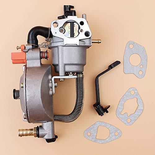 Tiempo Beixi Kit de conversión de carburador de Doble Combustible for Honda GX160 GX200 168F 170F 2KW 3 KW GENERADOR DE GLP/GNC Gasolina Doble Combustible del carburador Carb