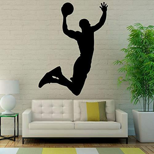 HNXDP Beliebte Sport Wandaufkleber Basketball Kunst Vinyl Wanddekoration Aufkleber Wohnzimmer Wasserdicht Neuankömmling Wandbild 40cmx30cm