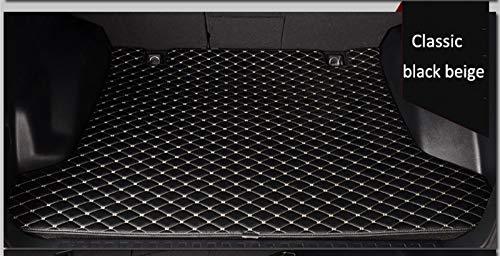 PanYFDD Alfombras Revestimientos de Casos Maletero del Coche esteras for Mercedes Benz W211 W176 W204 Gla Glk W212 W205 W245 W246 C180 Alfombra de Clase Superior (Color : Black Beige)