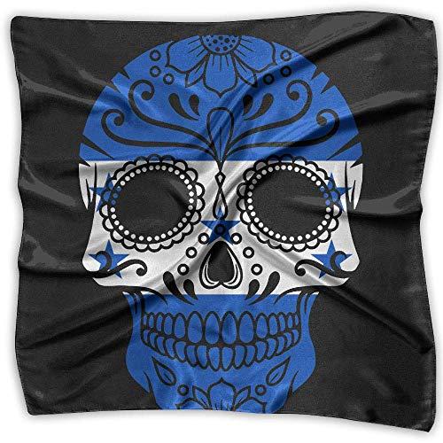 wuzmlls HONDURAS FLAG Sugar Skull Unisex Silky Schal band Bandana Scarves Set