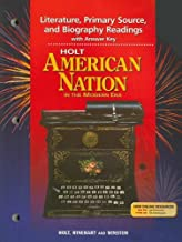 Holt American Nation in the Modern Era Literature, Primary Source, and Biography Readings with Answer Key