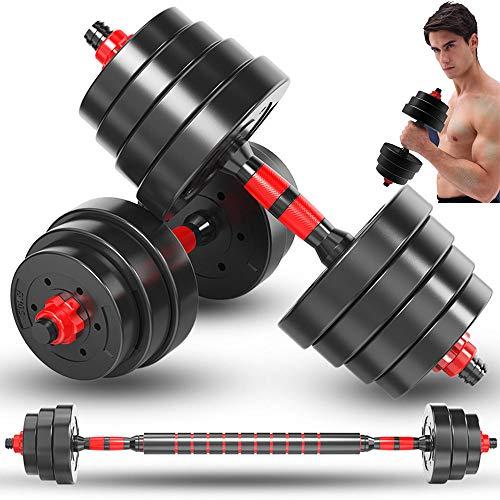HaltèRes-Adjustable Dumbbells-HaltèRes De Remise en Forme - Poids RéGlable Jusqu à 10 à 40kg - éQuipement De Fitness pour Homme Et Femme - Ensembles D haltèRes De Sport,40KG(88LB)