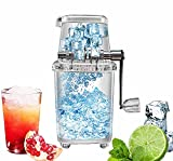 Eiscrusher, Manueller Eisbrecher Tragbare Handkurbel Manuelle Haushalts-Eisrasierer-Maschine für Softdrinks, Cocktails oder kalte Nachtischzubereitung