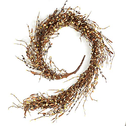 Factory Direct Craft Olive Gray and Tan Pip Berry Garland